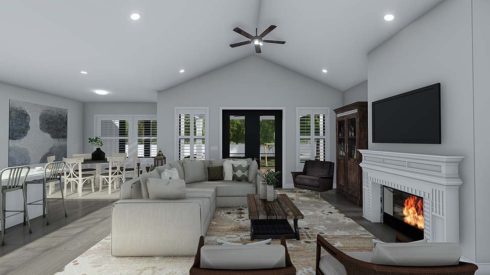 Craftsman, Ranch, Traditional House Plan 50536 with 6 Beds, 5 Baths, 3 Car Garage Picture 11