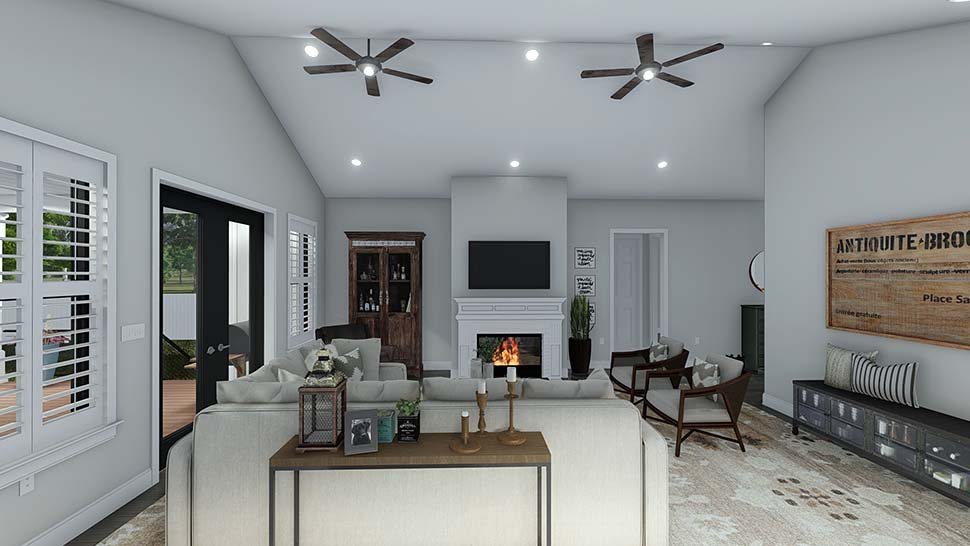 Craftsman, Ranch, Traditional House Plan 50536 with 6 Beds, 5 Baths, 3 Car Garage Picture 12