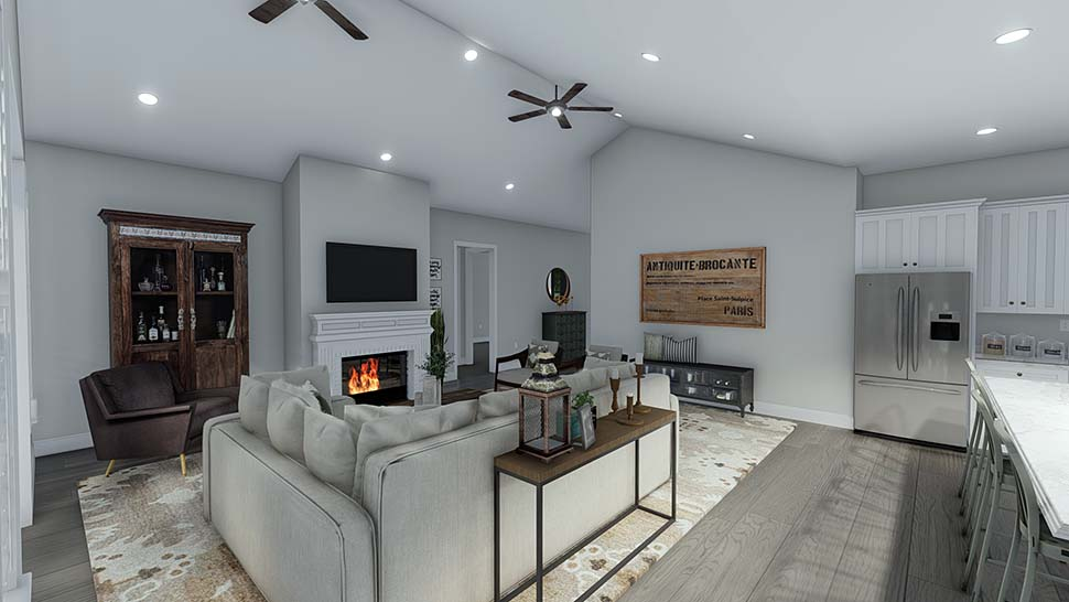 Craftsman, Ranch, Traditional House Plan 50536 with 6 Beds, 5 Baths, 3 Car Garage Picture 13