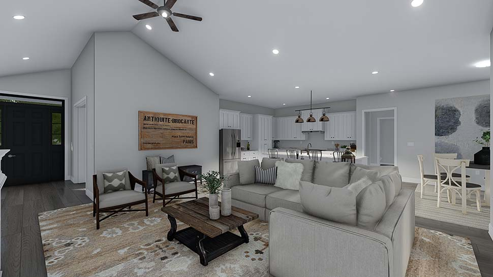Craftsman, Ranch, Traditional House Plan 50536 with 6 Beds, 5 Baths, 3 Car Garage Picture 14