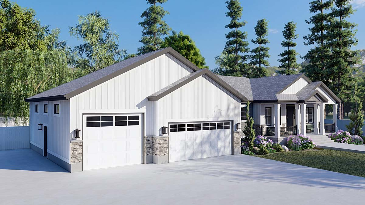 Craftsman, Ranch, Traditional House Plan 50536 with 6 Beds, 5 Baths, 3 Car Garage Picture 2