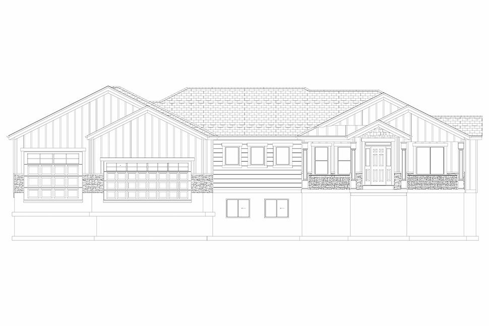 Craftsman, Ranch, Traditional House Plan 50536 with 6 Beds, 5 Baths, 3 Car Garage Picture 32
