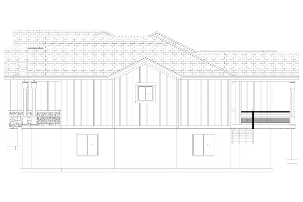 Craftsman, Ranch, Traditional House Plan 50536 with 6 Beds, 5 Baths, 3 Car Garage Picture 33