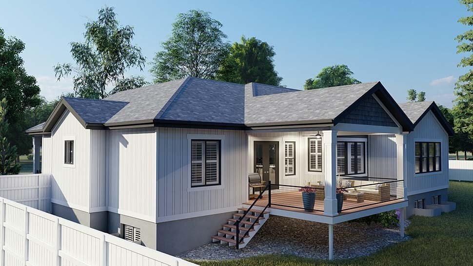 Craftsman, Ranch, Traditional House Plan 50536 with 6 Beds, 5 Baths, 3 Car Garage Picture 4
