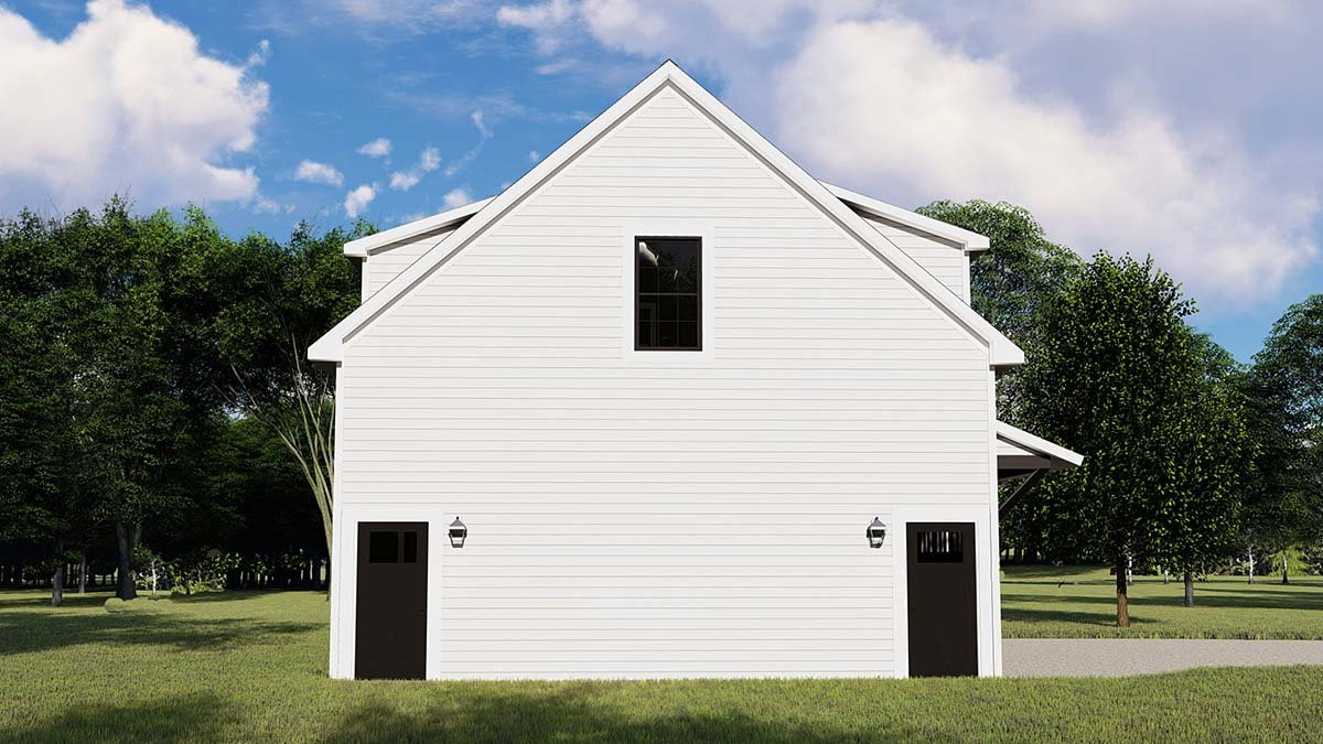 Colonial, Contemporary 3 Car Garage Apartment Plan 50707 with 1 Beds, 1 Baths Picture 2