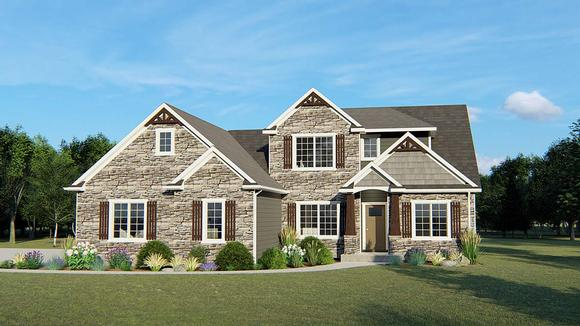 Cottage, Country, Southern, Traditional House Plan 50712 with 5 Beds, 3 Baths, 3 Car Garage Elevation