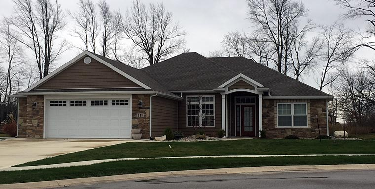 Country, Craftsman, Traditional House Plan 50724 with 3 Beds, 2 Baths, 2 Car Garage Elevation