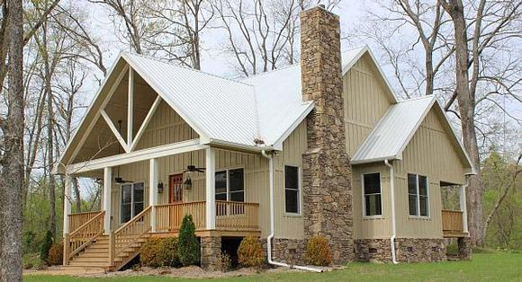 Cabin, Country, Farmhouse House Plan 51411 with 3 Beds, 4 Baths Elevation