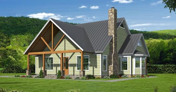 Cottage, Country, Southern, Traditional House Plan 51457 with 3 Beds, 4 Baths Elevation