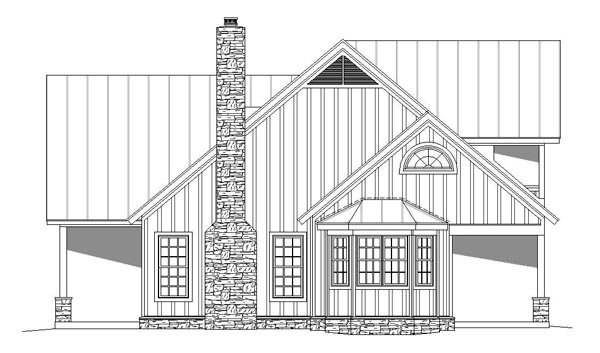Cottage, Country, Southern, Traditional House Plan 51457 with 3 Beds, 4 Baths Picture 2