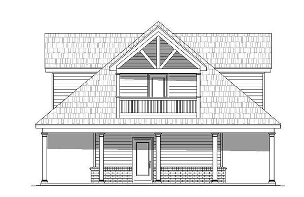 Country, Southern, Traditional House Plan 51511 with 1 Beds, 2 Baths Picture 1