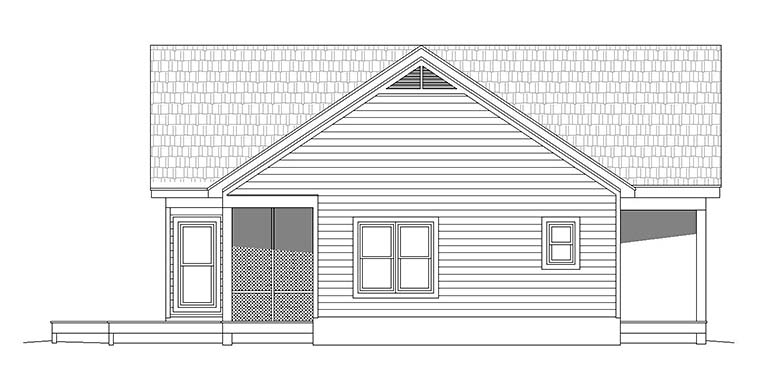 Cabin, Contemporary, Southern, Traditional House Plan 51547 with 2 Beds, 2 Baths Picture 1
