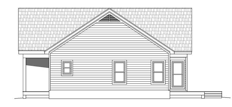 Cabin, Contemporary, Southern, Traditional House Plan 51547 with 2 Beds, 2 Baths Picture 2
