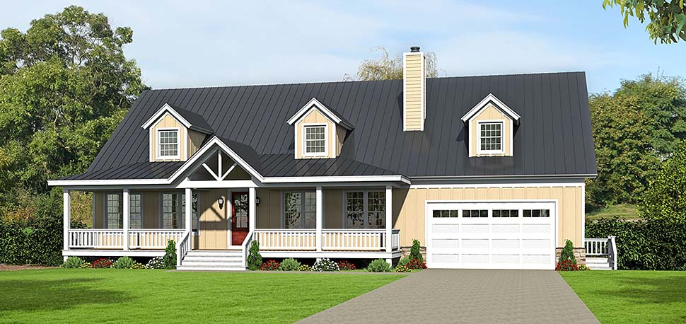 Country, Southern House Plan 51637 with 4 Beds, 5 Baths, 2 Car Garage Elevation