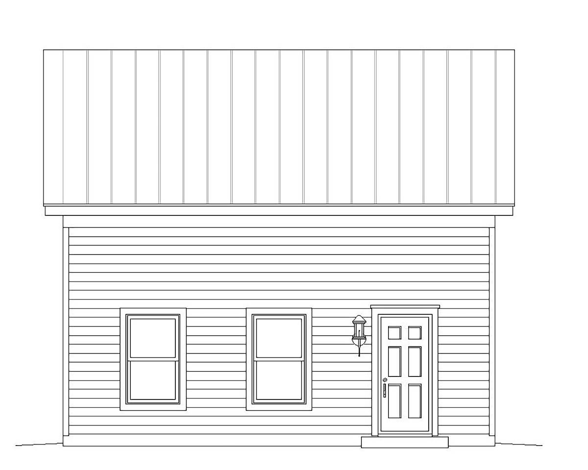 Cape Cod, Colonial, Cottage, Country, Farmhouse, Prairie, Ranch, Saltbox, Traditional, Tudor 2 Car Garage Plan 51669 Picture 2