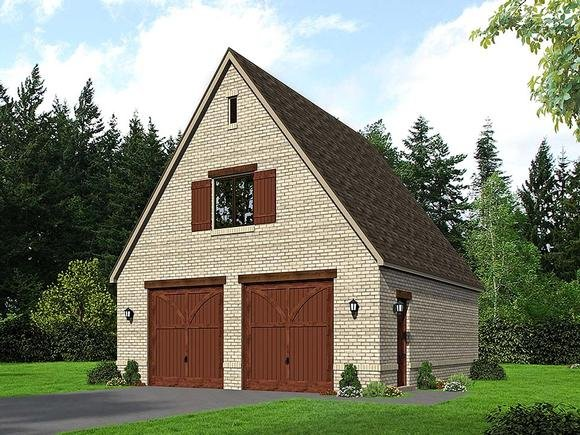 European, French Country, Traditional 2 Car Garage Plan 51684 Elevation