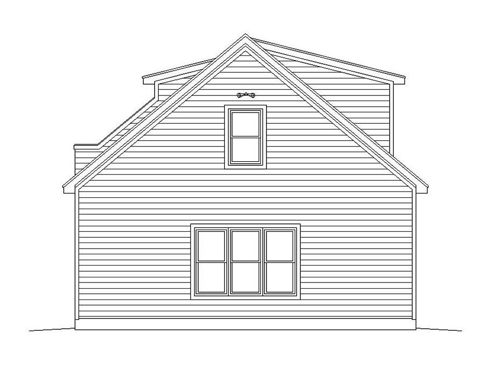 Coastal, Colonial, Country, Farmhouse, Traditional 3 Car Garage Plan 51692 Picture 2