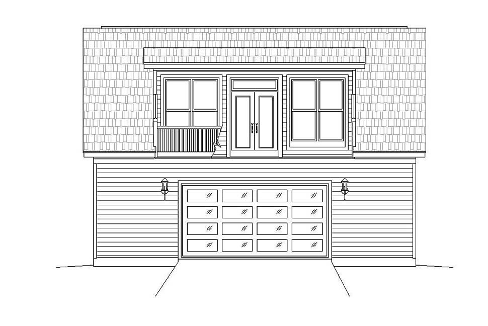 Coastal, Colonial, Country, Farmhouse, Traditional 3 Car Garage Plan 51692 Picture 3