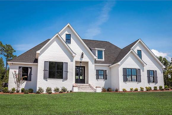 European, French Country House Plan 51967 with 4 Beds, 3 Baths, 2 Car Garage Elevation