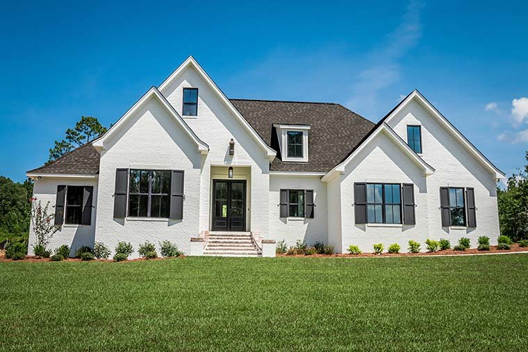 European, French Country House Plan 51967 with 4 Beds, 3 Baths, 2 Car Garage Picture 1