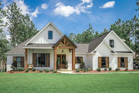 Country, Craftsman, Farmhouse House Plan 51981 with 4 Beds, 3 Baths, 2 Car Garage Elevation
