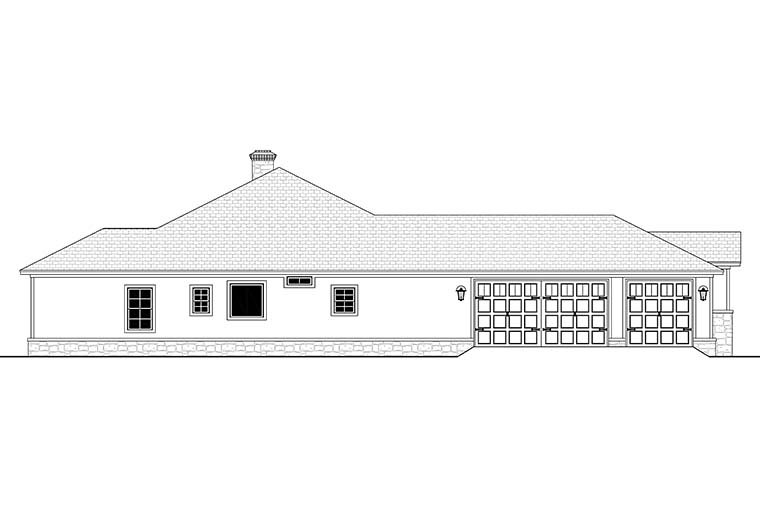Country, Ranch, Traditional House Plan 51983 with 4 Beds, 4 Baths, 3 Car Garage Picture 2