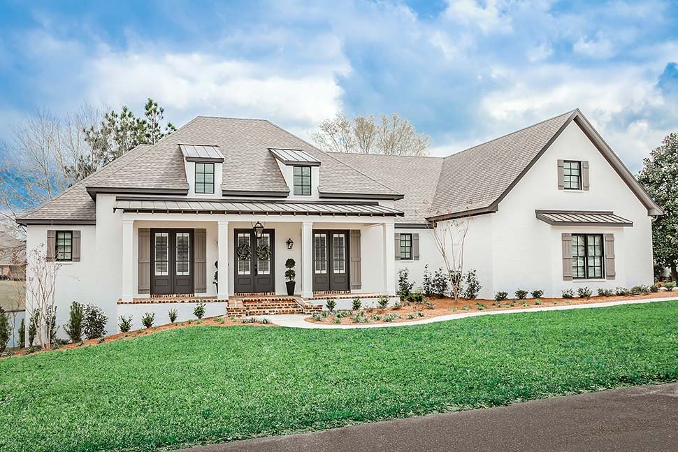 European, French Country, Ranch, Southern House Plan 51989 with 3 Beds, 2 Baths, 3 Car Garage Picture 1