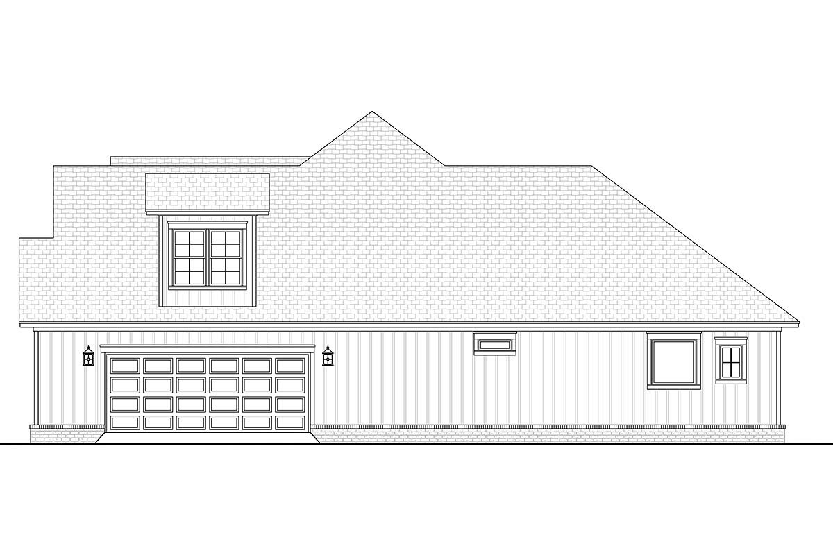 Country, Craftsman, Farmhouse House Plan 51992 with 3 Beds, 3 Baths, 2 Car Garage Picture 1