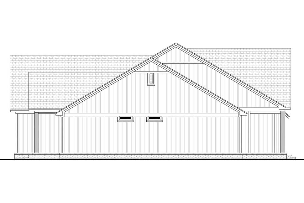 Country, Farmhouse, Southern House Plan 51998 with 4 Beds, 3 Baths, 2 Car Garage Picture 2