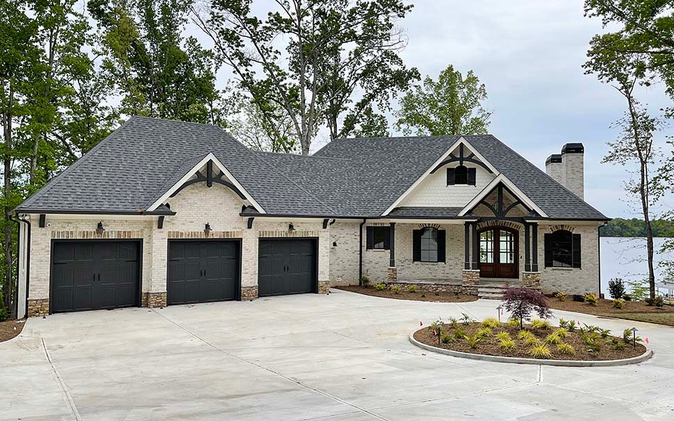 Craftsman, Traditional House Plan 52033 with 3 Beds, 4 Baths, 4 Car Garage Picture 2