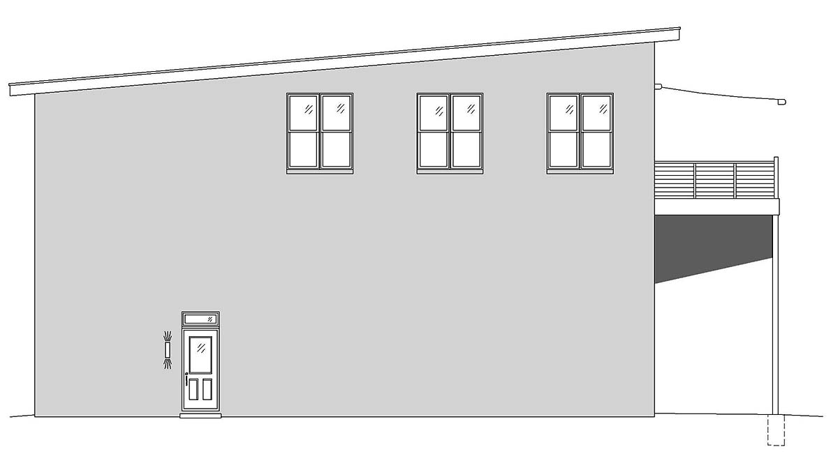 Contemporary, Modern Multi-Family Plan 52105 with 5 Beds, 4 Baths, 4 Car Garage Picture 2