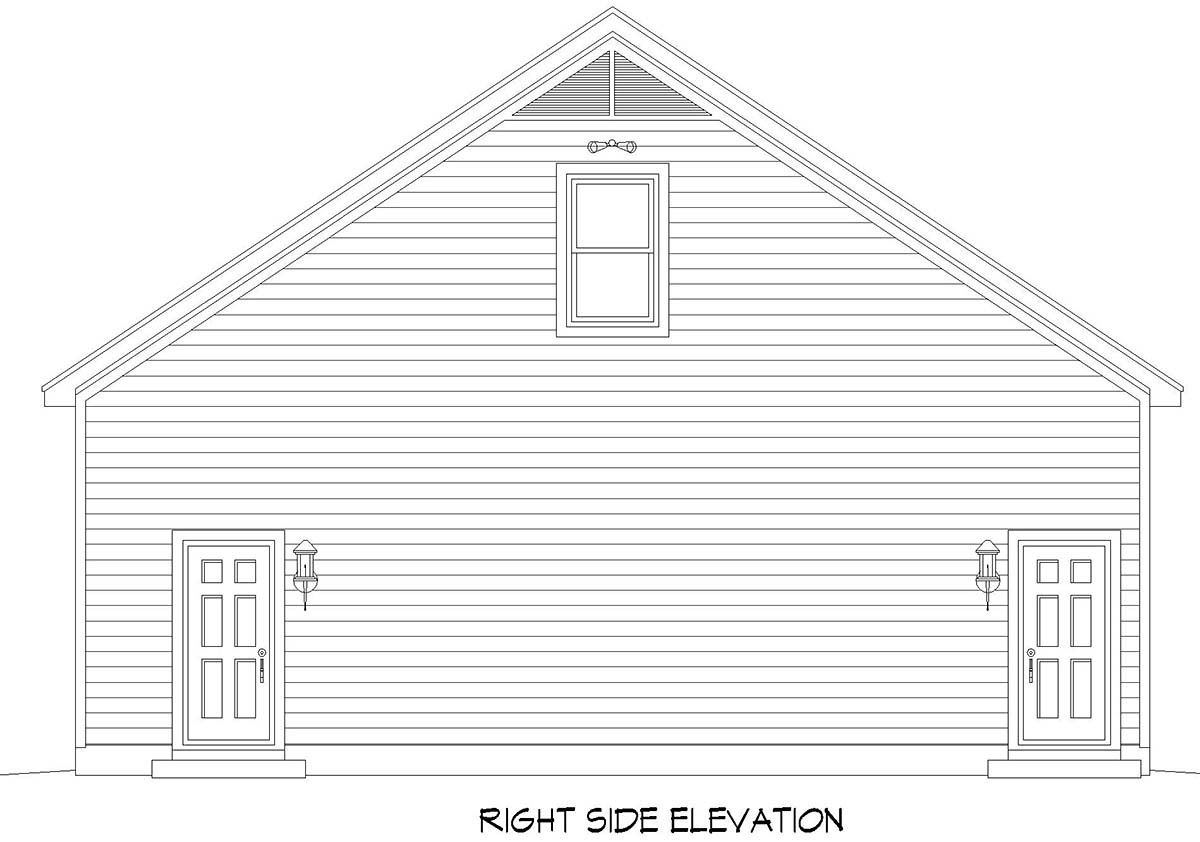 Traditional 3 Car Garage Plan 52106 with 1 Beds, 1 Baths Picture 1