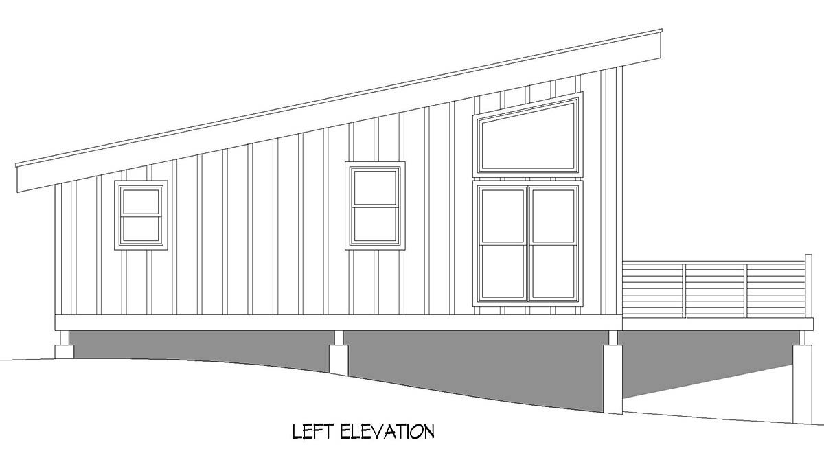 Contemporary, Modern House Plan 52116 with 1 Beds, 1 Baths Picture 2