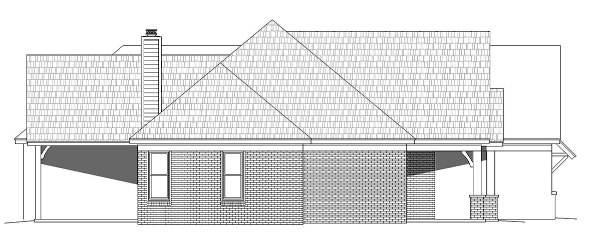 French Country, Ranch, Traditional House Plan 52117 with 3 Beds, 3 Baths, 3 Car Garage Picture 2