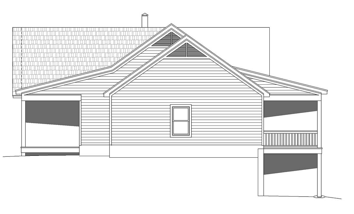 Country, Farmhouse, Traditional House Plan 52122 with 2 Beds, 2 Baths, 2 Car Garage Picture 1
