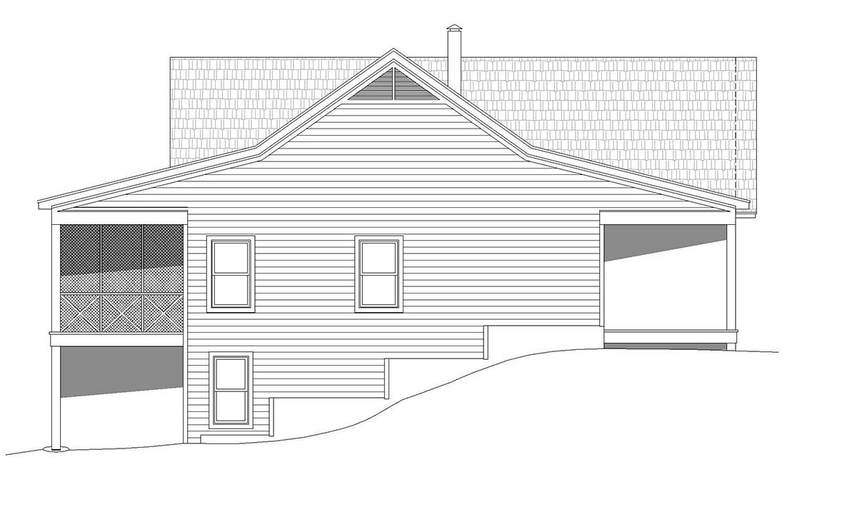 Country, Farmhouse, Traditional House Plan 52122 with 2 Beds, 2 Baths, 2 Car Garage Picture 2