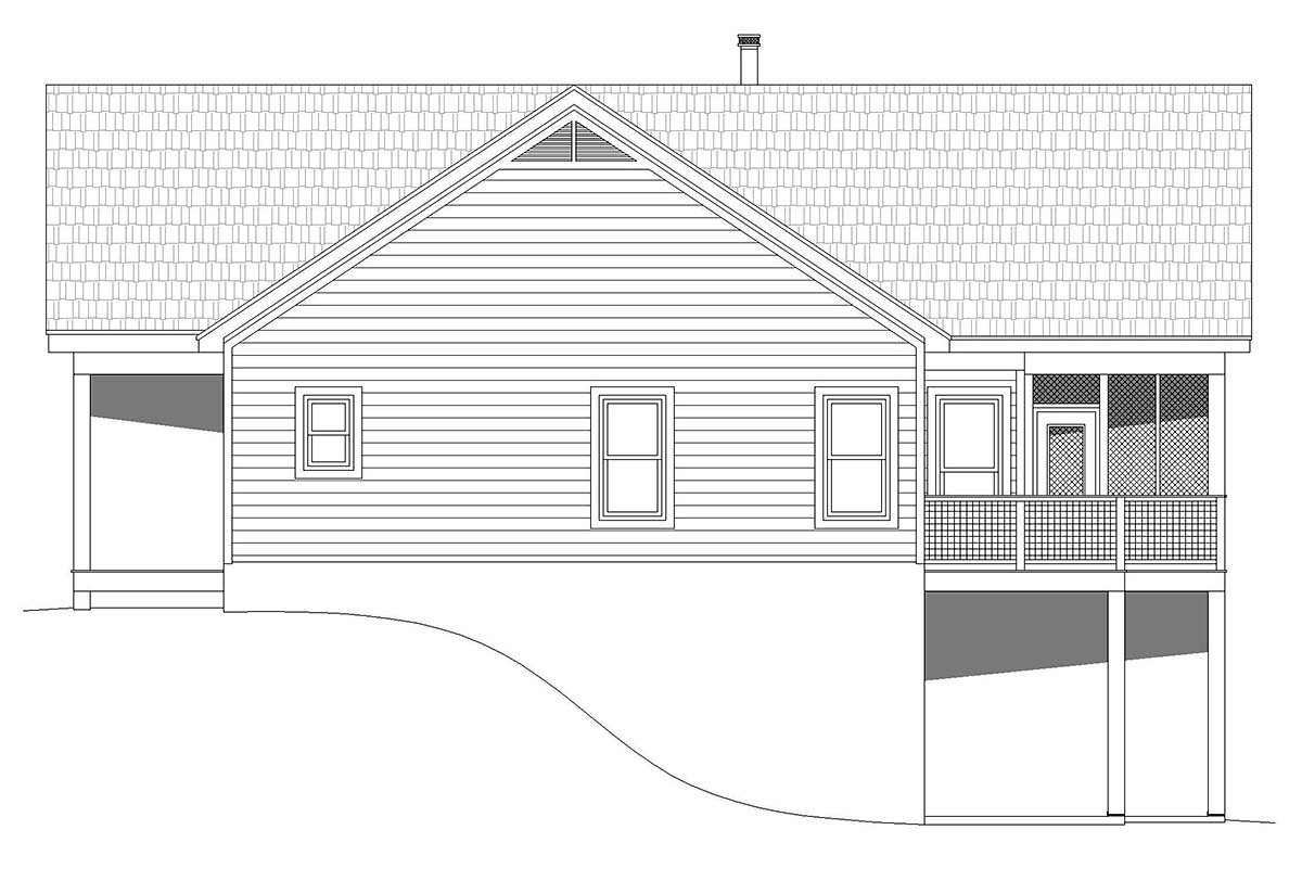 Country, Ranch, Traditional House Plan 52126 with 2 Beds, 2 Baths Picture 1
