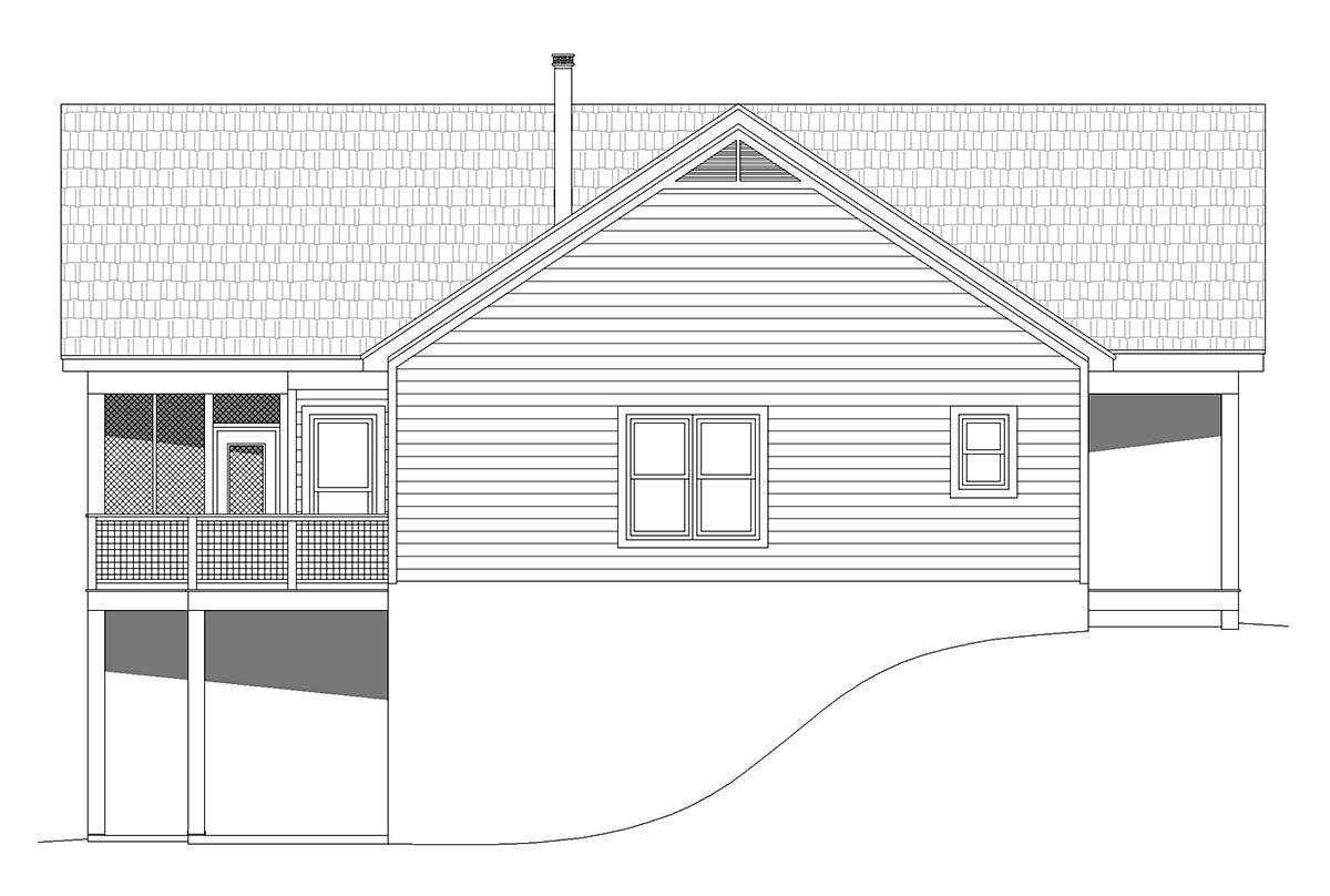 Country, Ranch, Traditional House Plan 52126 with 2 Beds, 2 Baths Picture 2