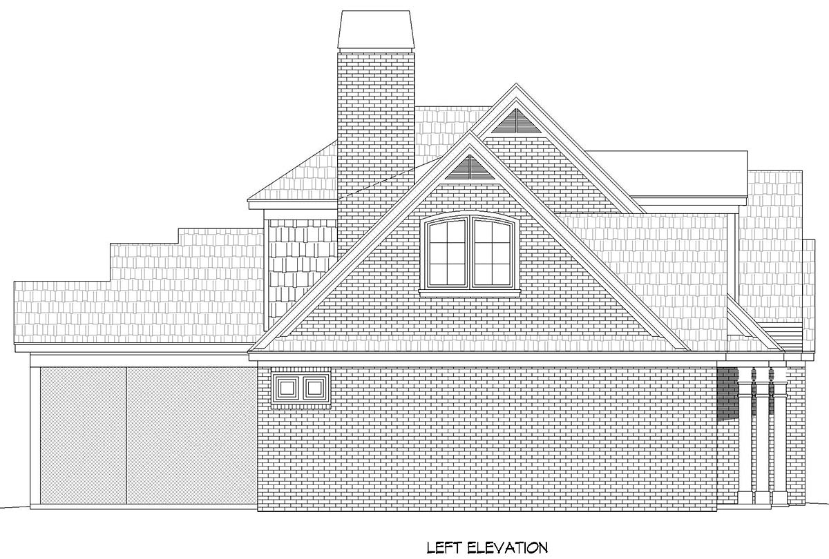 Country, Farmhouse, Traditional House Plan 52128 with 3 Beds, 3 Baths, 3 Car Garage Picture 2