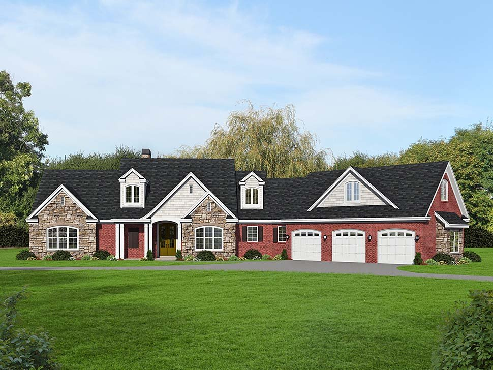 Country, Farmhouse, Traditional House Plan 52128 with 3 Beds, 3 Baths, 3 Car Garage Picture 6