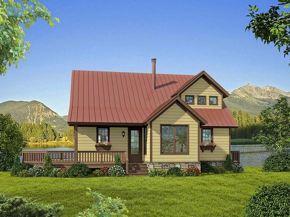 Country, Farmhouse House Plan 52131 with 3 Beds, 2 Baths Elevation