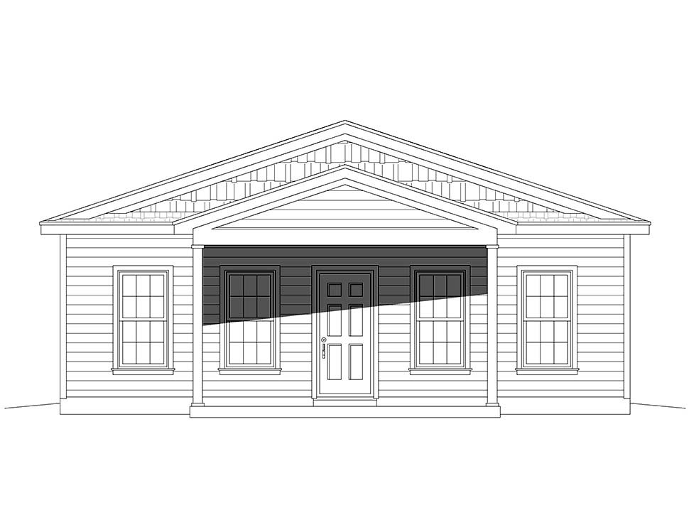 Country, Traditional House Plan 52133 with 2 Beds, 2 Baths Picture 3