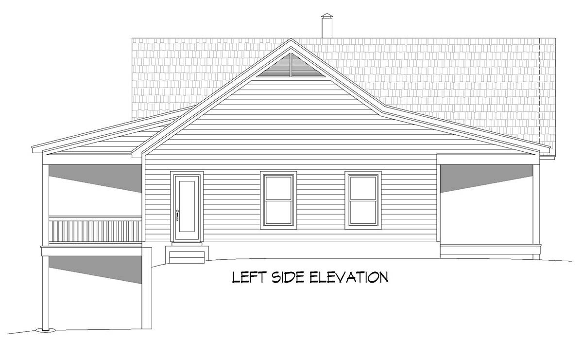Country, Ranch, Traditional House Plan 52135 with 2 Beds, 3 Baths, 1 Car Garage Picture 2