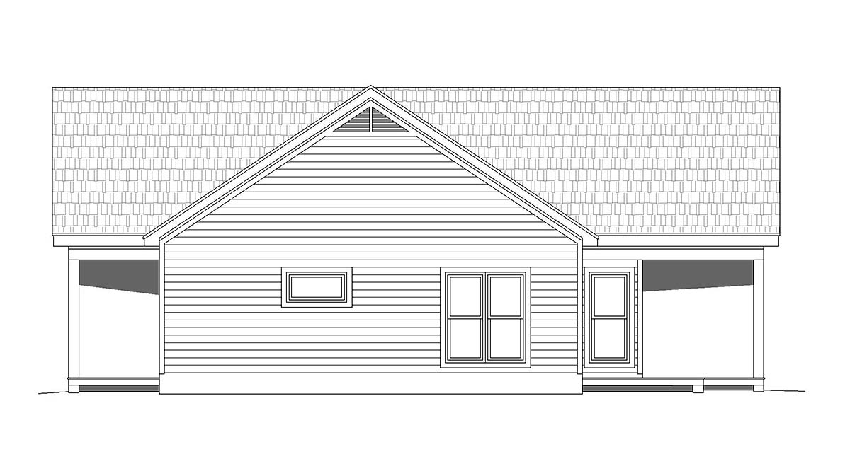 Traditional House Plan 52137 with 2 Beds, 2 Baths Picture 1