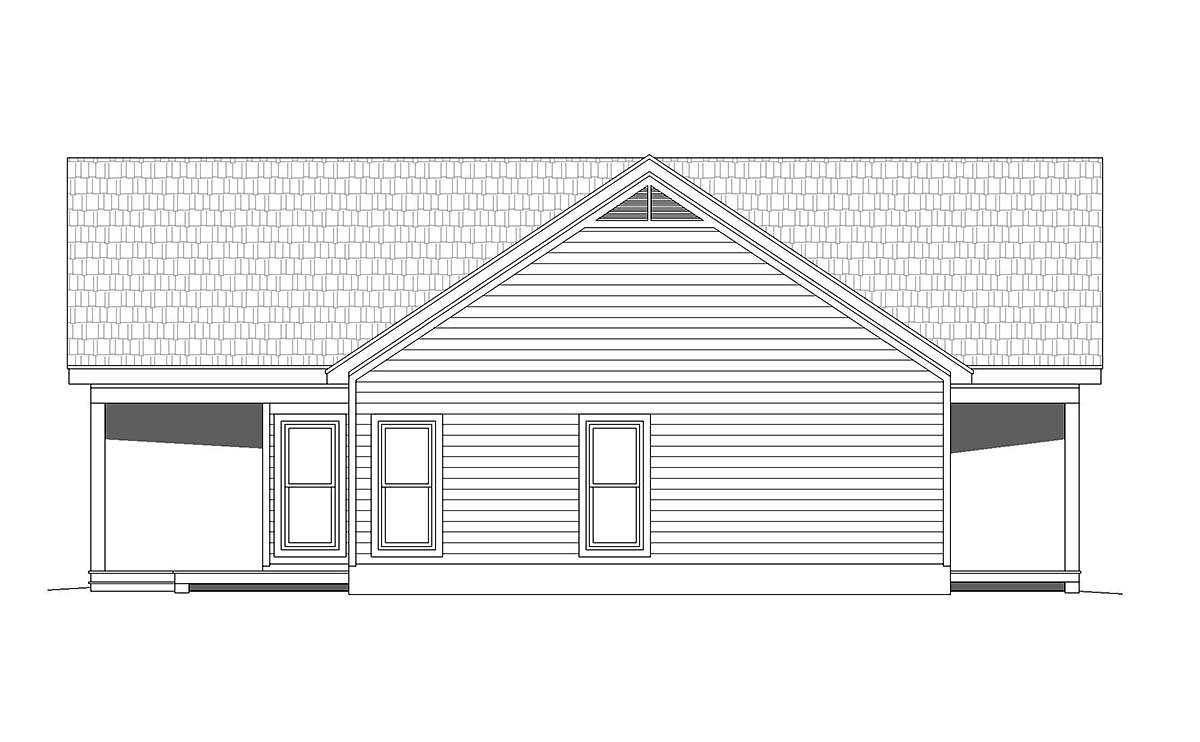 Traditional House Plan 52137 with 2 Beds, 2 Baths Picture 2