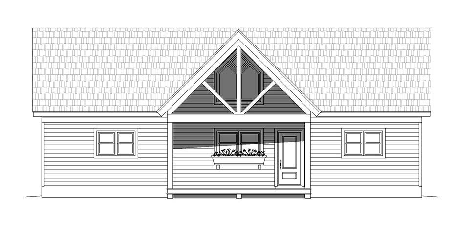 Traditional House Plan 52137 with 2 Beds, 2 Baths Picture 3