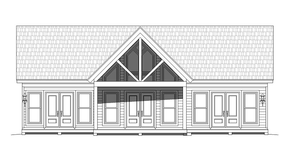 Traditional House Plan 52137 with 2 Beds, 2 Baths Picture 4