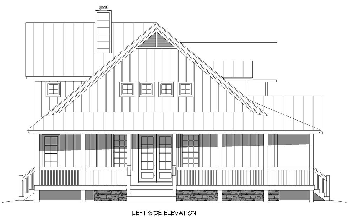 Country, Farmhouse, Traditional House Plan 52144 with 3 Beds, 3 Baths, 2 Car Garage Picture 2