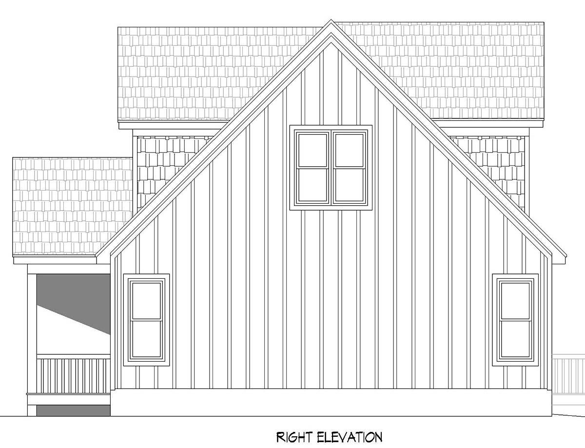 Cabin, Country, Craftsman, Farmhouse, Prairie House Plan 52148 with 3 Beds, 2 Baths, 2 Car Garage Picture 1