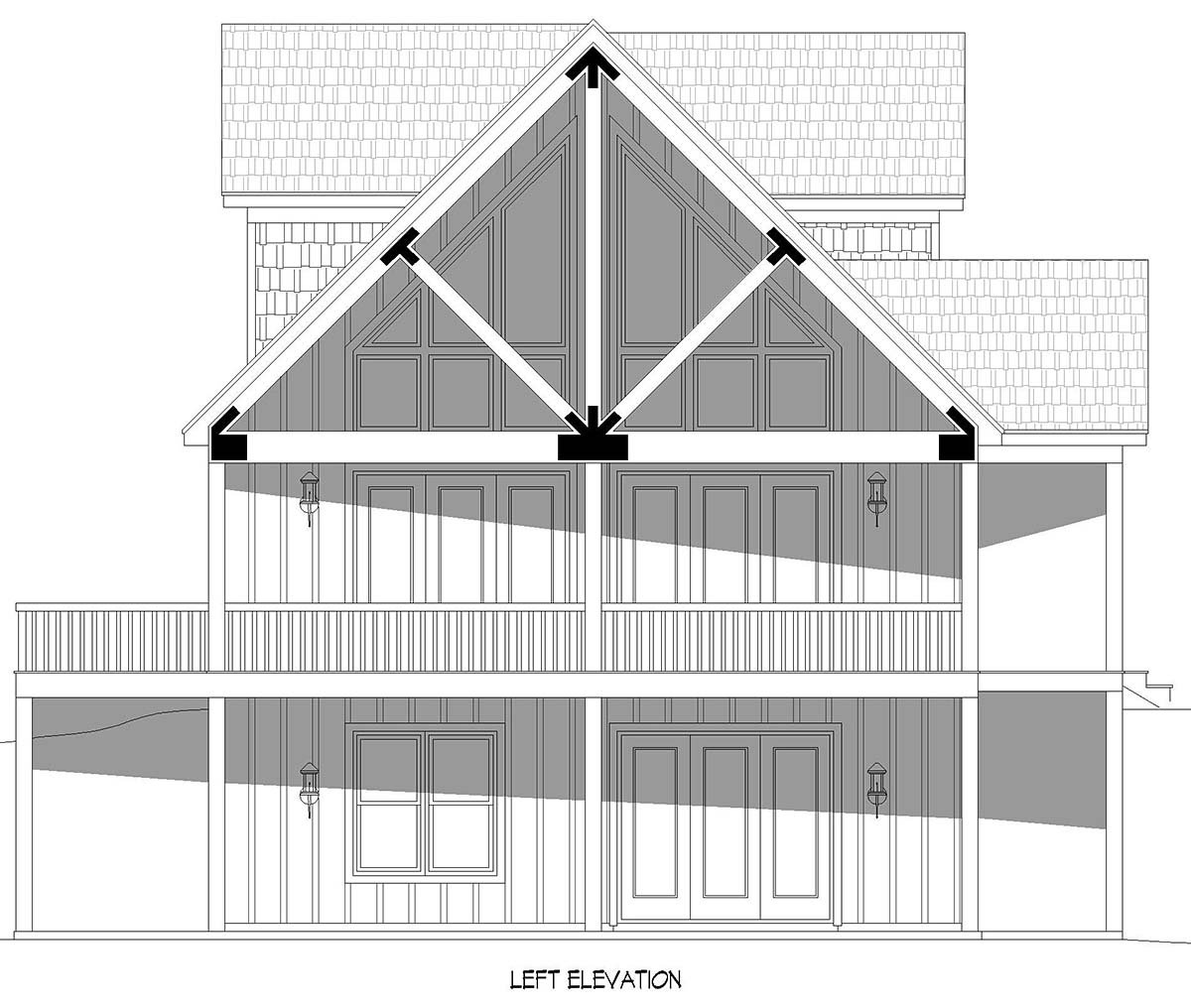 Cabin, Country, Craftsman, Farmhouse, Prairie House Plan 52148 with 3 Beds, 2 Baths, 2 Car Garage Picture 2